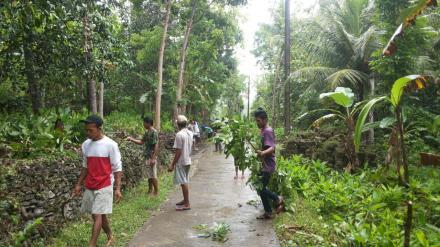 Dusun Brongkol Gotong Royong Mengantisipasi Bencana
