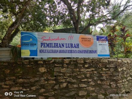 Sukseskan Pilur, Panitia Pasang Banner di Dusun Ngepek