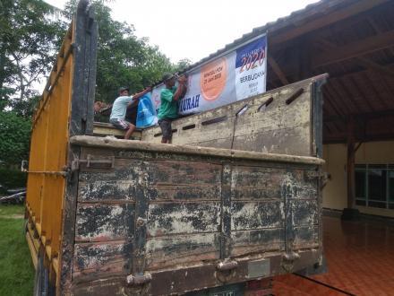 Pemasangan Banner Sosialisasi Pilur Dusun Sungapan